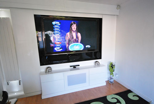High Gloss tv Wall Unit Media Room And tv Unit in High