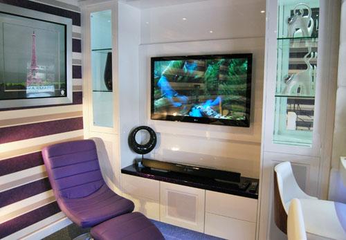 High Gloss tv Wall Unit Unit in White High Gloss