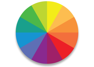 The colourwheel should be the basis for all your colour choices. Keep referring to it!