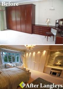Cherry bedroom updated to a cream bedroom