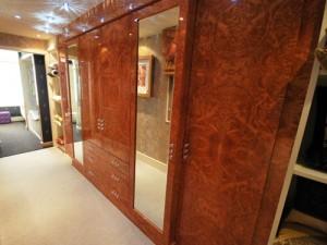 Burr maple wardrobes with mirror