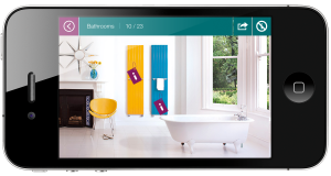 Free Iphone app from Bisque to choose your ideal designer radiators.