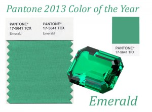 Pantone colour of the year 2013 emerald - beautiful bright luxurious green
