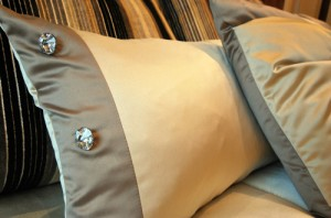 Beautiful soft furnishings with crystal details.