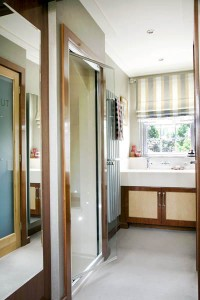 Large walk-in en-suite dressing area