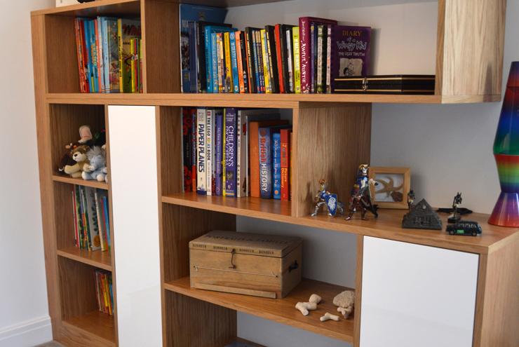 Modern toy storage - ideal for kids bedroom furniture