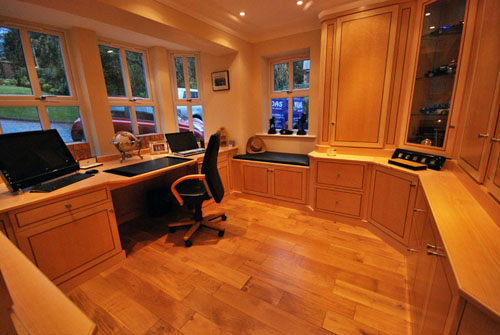 bespoke home office furniture in real wood