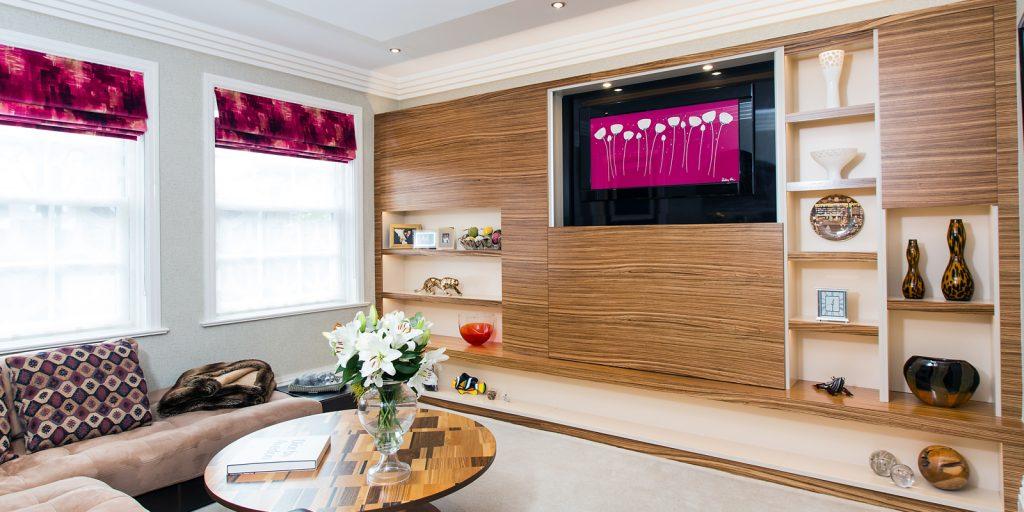 Bespoke living room furniture in real wood veneers zabrano