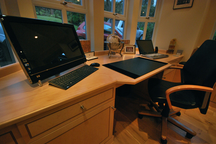 Bespoke home office furniture with bespoke storage solutions
