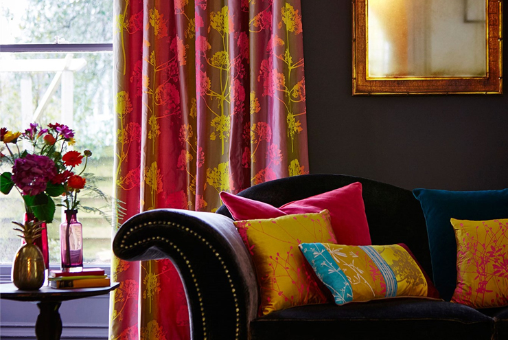 Bespoke Soft furnishings; custom made curtains, bedding, cushions and throws using Harlequin fabrics